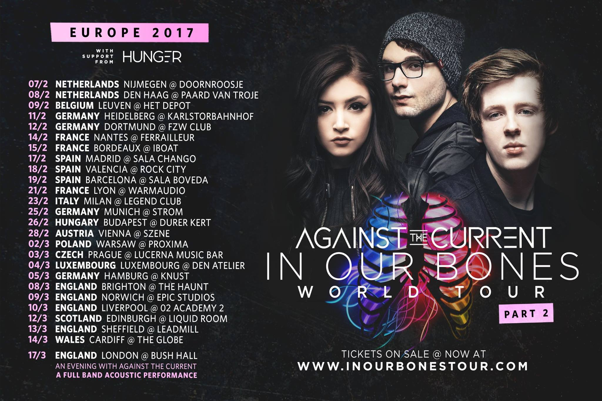 EUROPEAN TOUR WITH AGAINST THE CURRENT